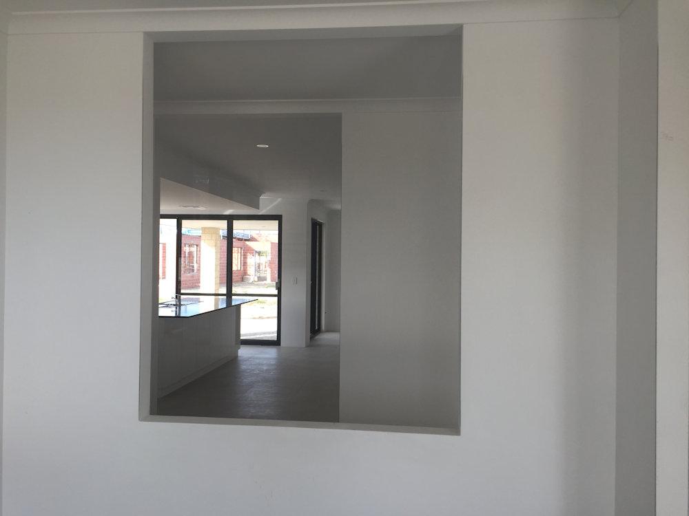 render float and white set plaster